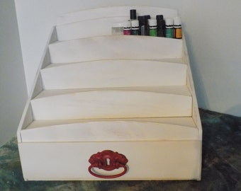 4 Tier Essential Oil Storage Shelf with a Drawer