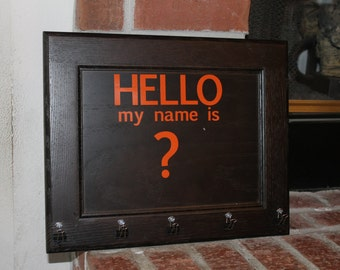 Hello My Name is sign