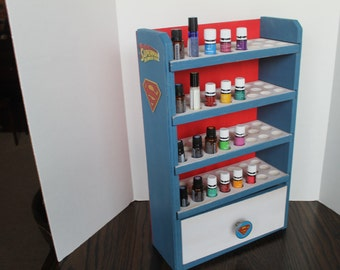Superman 96ct Essential Oil Shelf with drawer-Chicago