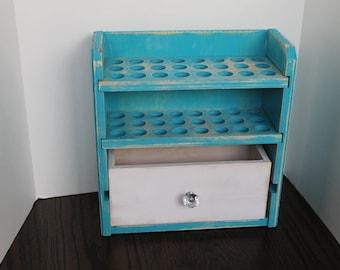 Essential Oil Storage Shelf 72ct with Drawer-Ava-dwr
