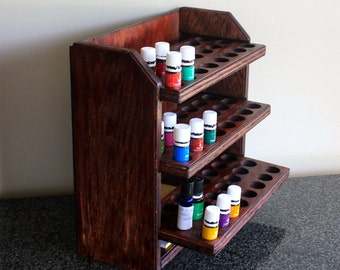 Essential oil storage shelf 72ct/Bombay mahogany-Ava