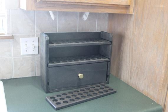 Essental oil storage// Essential oil holder// Essential oil// 90 count shelf with a drawer - Cody-dwr