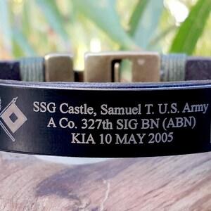 BME Black Memorial Bracelet 7 X .5