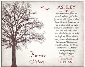 Sister Gift - Sister Poem Gift - Sister Print - Christmas Gift For Sister - Sister Wall Art - Personalized Sister Gift