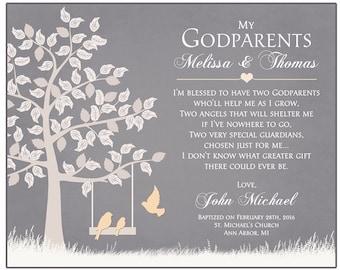 Godparents Gift - Gift For Godparents Personalized Godparents Gift   Baptism Gift For Godparents  Card For Godparents - Godparents Thank You
