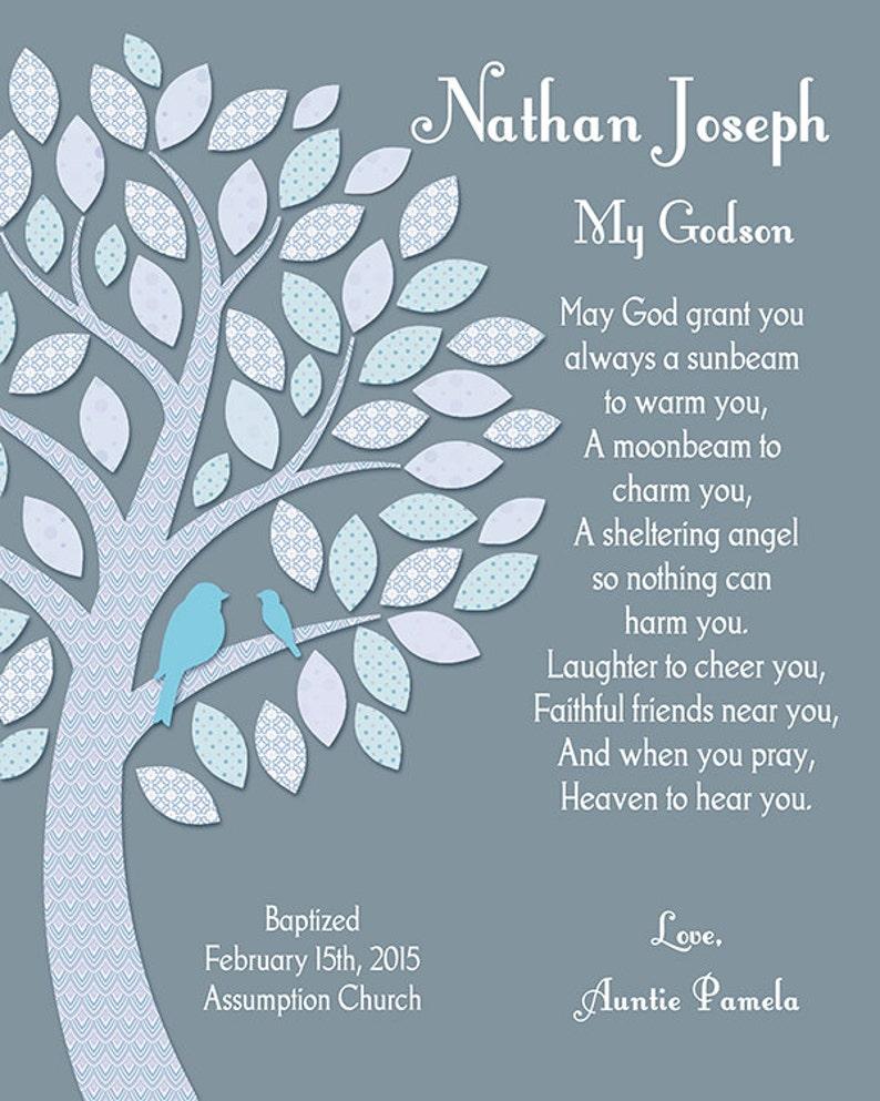 Baptism Gift For Godchild Baptism for Godson Personalized ...