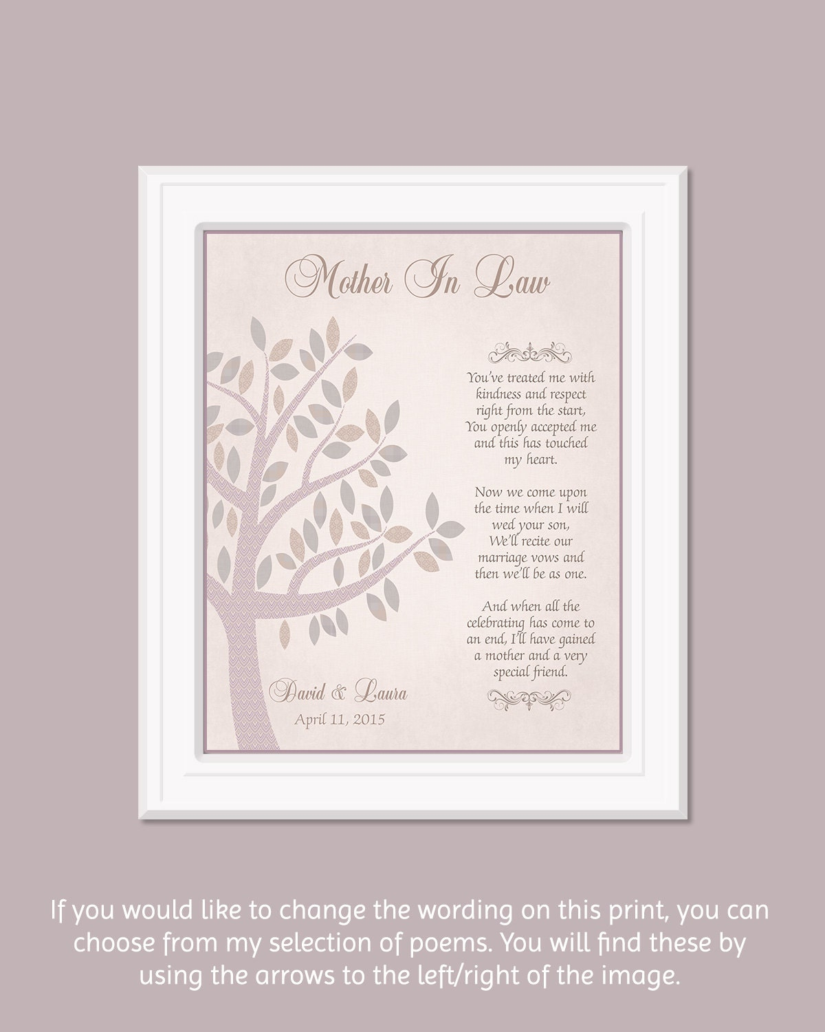 Wedding Gift For Mother In Law: Mother In Law Gift Wedding Thank You Gift For Grooms Mom