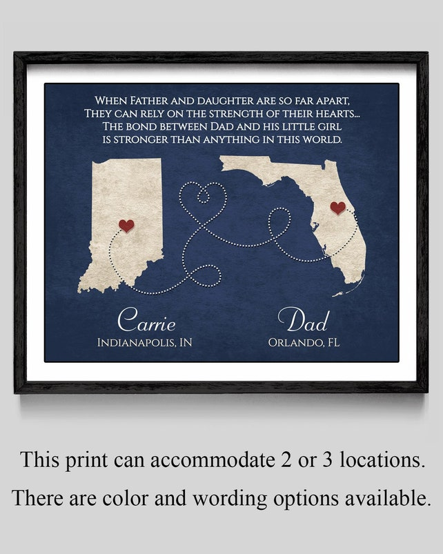 Father Gift From Daughter to Dad Father Daughter Long Distance   Etsy