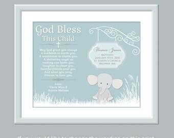 Baptism Gift Boy - Godchild Gift - Godchild Keepsake - Personalized Godchild Gift - Godchild Print - Unique Godchild Gift - Godchild Card