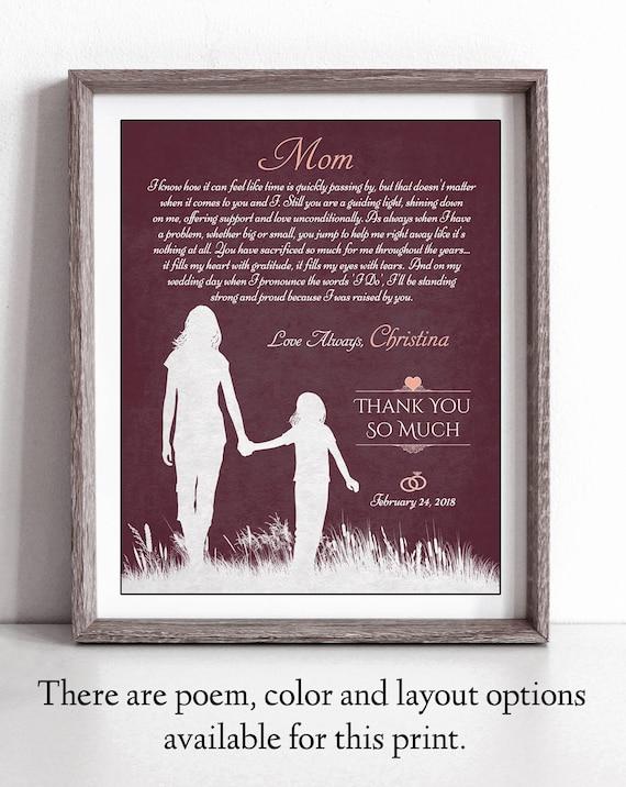 Mutter Der Braut Gedicht Hochzeitsgeschenke Fur Eltern Etsy