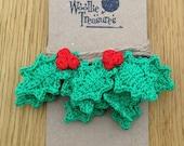 Handmade Crochet Holly Bunting