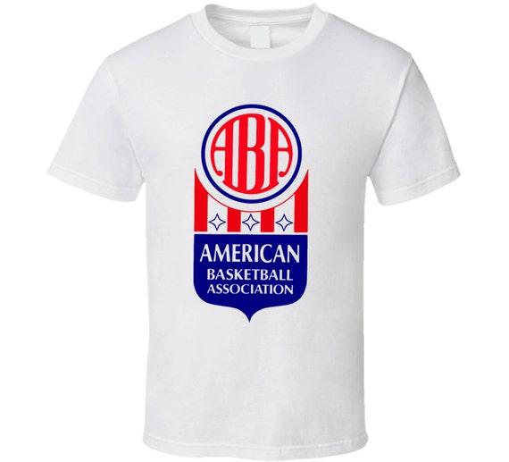 american basketball association aba t shirt etsy