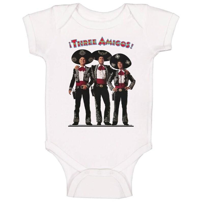 Three Amigos Retro 80/'s Comedy Baby One Piece