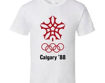 Calgary Olympics Logo 1988 T Shirt