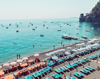 Beach Print, Wall Art Coastal, Italy Photography, Positano, Italy Wall Art, Italy Poster, Amalfi Coast, beach prints, beach coast prints