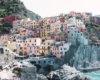 Wall Art Coastal, Italy Photography, Cinque Terre, Beach print, Beach wall art, Large wall art, beach prints, beach coast prints