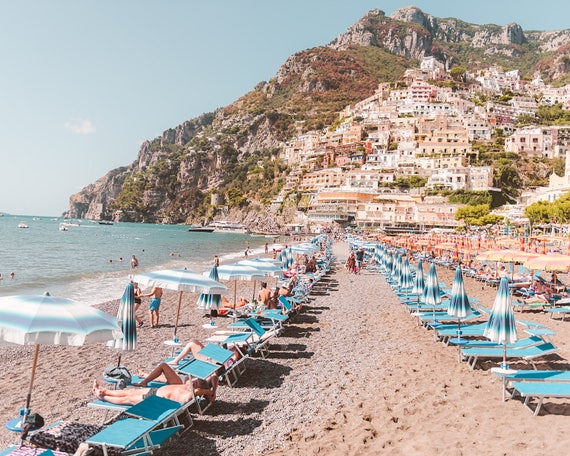 Amalfi Coast Positano Positano Print Positano Photograph Italy Home Decor Italy Print Beach Print Beach Home Decor Positano