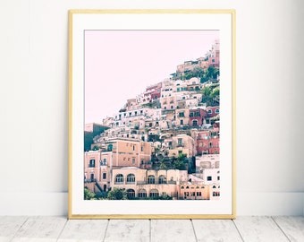 Positano, Amalfi Coast, Positano Print, Positano Photo, Italy Home Decor, Italy Print, Pink Print, Positano Home Decor, Amalfi Coast Print