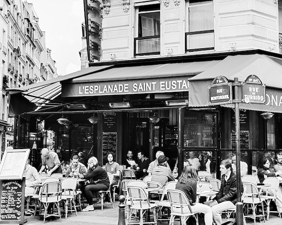 Paris Photography Black And White Paris Prints Paris Cafe Etsy