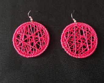 Round Crochet Earrings