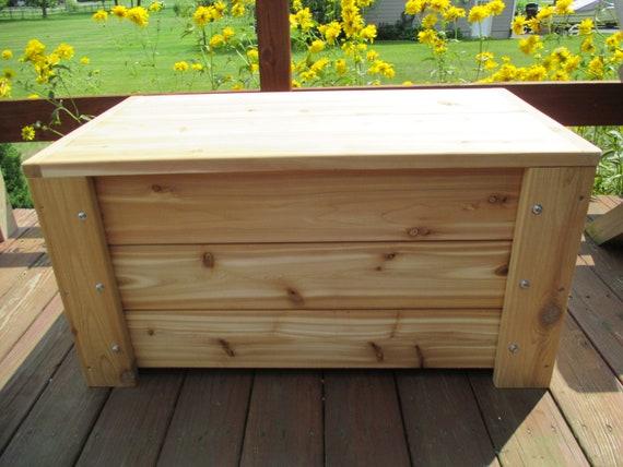 Groovy Premium Quality Indoors Outdoors Cedar Storage Bench Free Shipping Us 48 Machost Co Dining Chair Design Ideas Machostcouk
