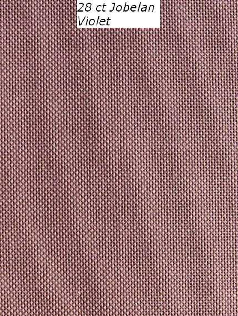 28 count Jobelan evenweave fabric, 70 x 50 cm, various colours, use for my  cross stitch designs and other counted embroidery  Permin fabric