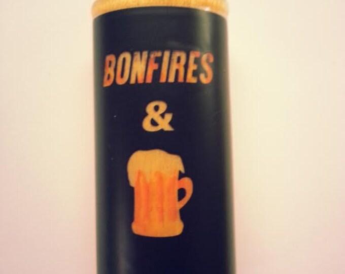 Bonfires and Beer Wood Lighter Case Holder Sleeve Cover Fits Bic Lighters