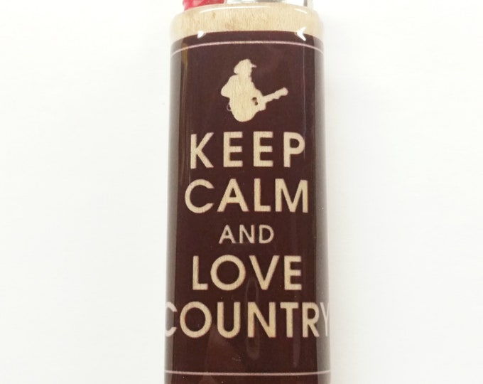 Keep Calm Love Country Wood Lighter Case Holder Sleeve Cover Fits Bic Lighters