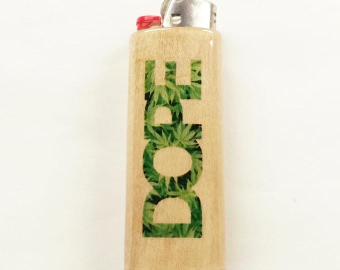 Dope Wood Lighter Case Holder Sleeve Cover Fits Bic Lighters