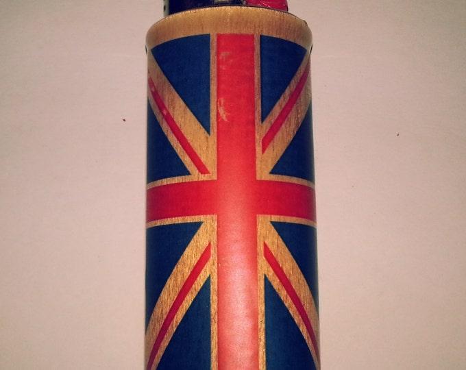 UK Flag United Kingdom Wood Lighter Case Holder Sleeve Cover Fits Bic Lighters