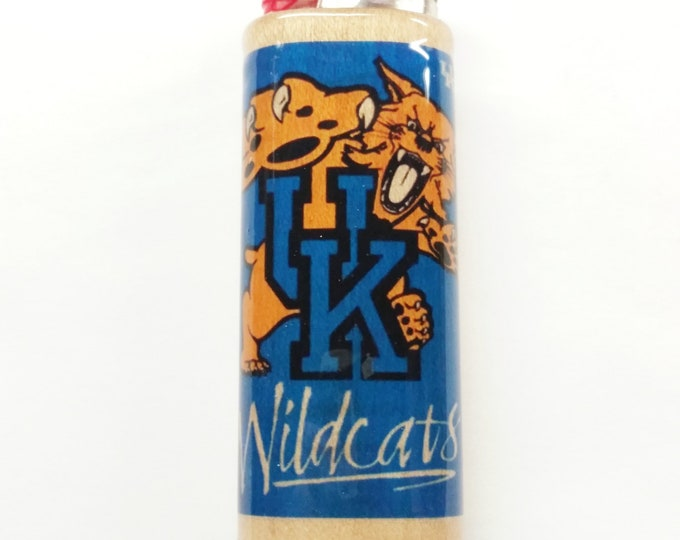 Kentucky Wildcats UK Wood Lighter Case Holder Sleeve Cover Fits Bic Lighters