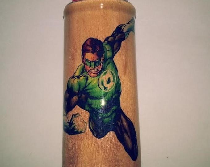 Green Lantern Wood Lighter Case Holder Sleeve Cover Fits Bic Lighters