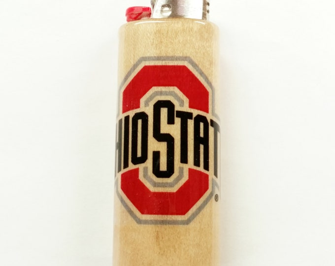 Ohio State Buckeyes Lighter Case Holder Sleeve Cover Fits Bic Lighters
