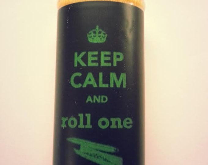 Keep Calm and Roll One Joint Wood Lighter Case Weed Marijuana Ganja Pot Holder Sleeve Cover Fits Bic Lighters