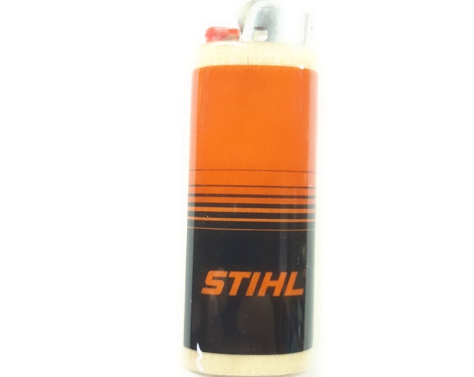 Stihl Logging Loggers Wood Lighter Case Holder Sleeve Cover Chainsaws Fits Bic Lighters