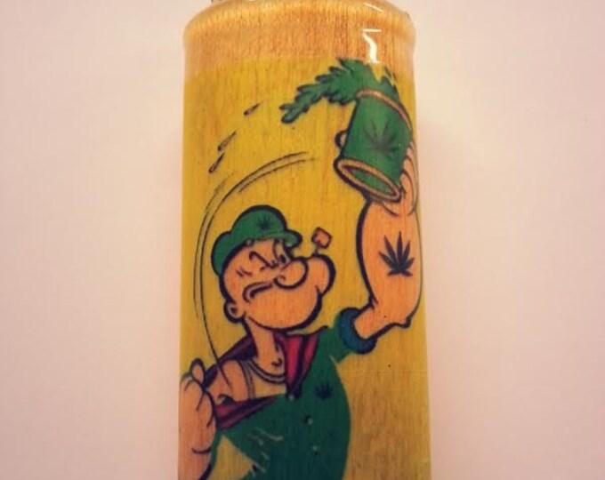 Popeye Pot Lighter Case, Lighter Holder, Lighter Sleeve Pot Weed, Marijuana, Ganja