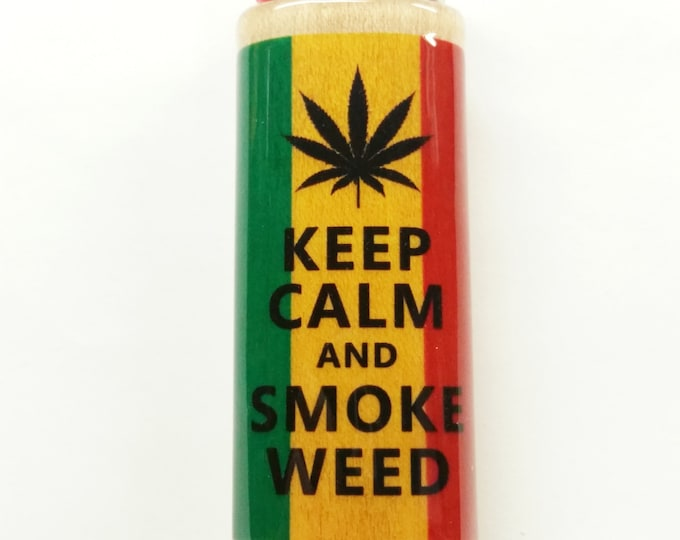 Rasta Keep Calm and Smoke Weed Lighter Case Holder Sleeve Cover Fits Bic Lighters