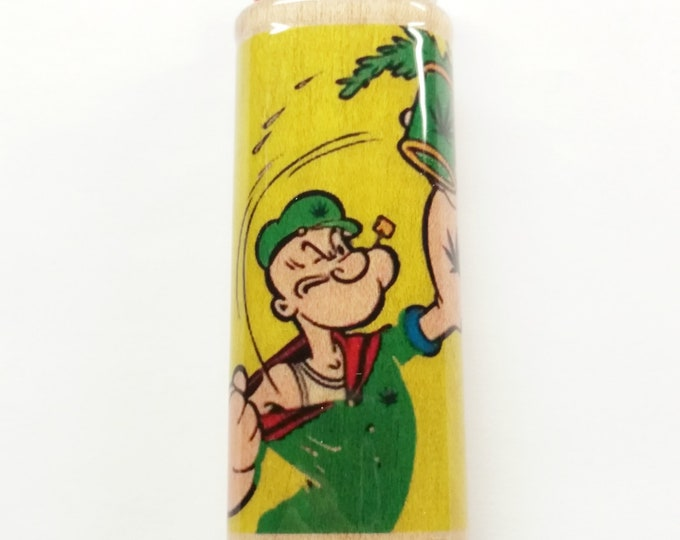 Popeye Pot Wood Lighter Case Holder Sleeve Cover Fits Bic Lighters