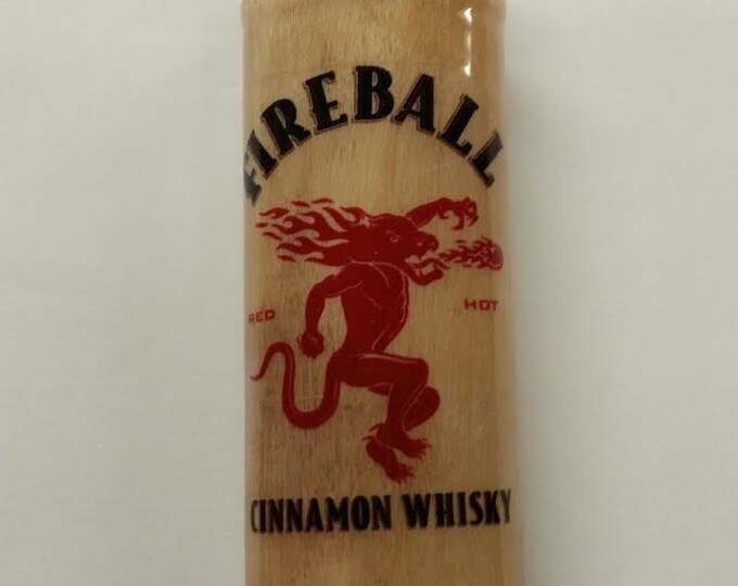 Fireball Cinnamon Whisky Wood Lighter Case Holder Sleeve Cover Fits Bic Lighters