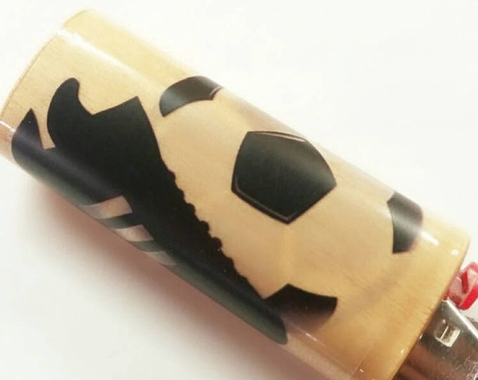 Soccer Futball fútbol BIC Lighter Case Holder Sleeve Cover Sports Association football