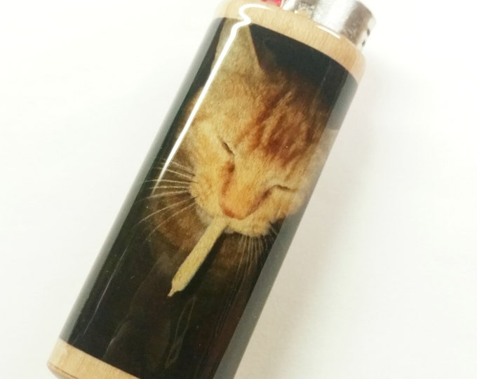 Cat Joint Lighter Case Holder Sleeve Cover Fits Bic Lighters