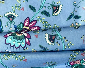 MOON FLOWER Vine Periwinkle Fabric from Michael Miller Fabrics Cotton Quilting Fabric