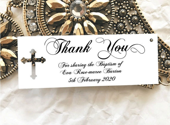 10 Gift Tags Baptism Christening Confirmation Bomboniere Personalised Candle v2