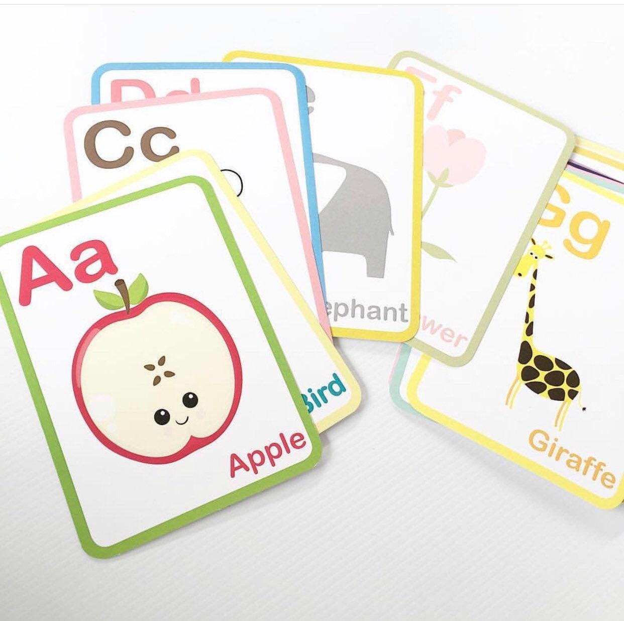 Educational Aid   Montessori Cards   Alphabet Cards   Montessori Gift    Toddler Gift Idea   Gift for Kids   Preschool Gift   Xmas