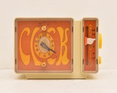 General Electric C3300A Alarm Clock Radio Fun 1970s Hand Cartoon Fun Cute Weird Free Shipping