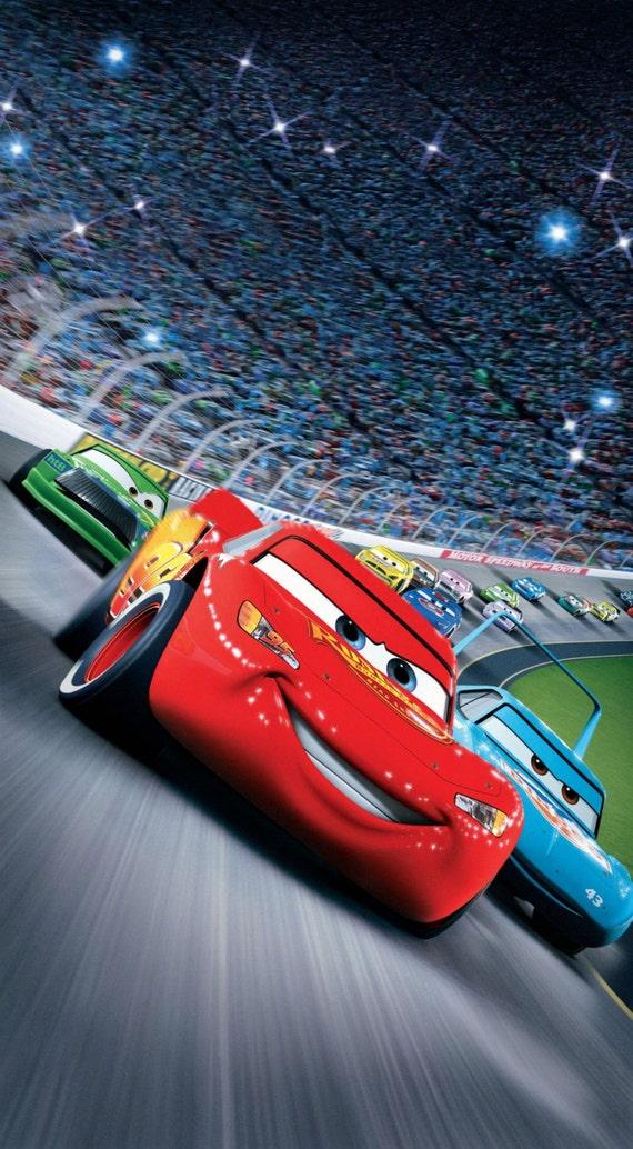 Disney Cars Movie Poster Etsy