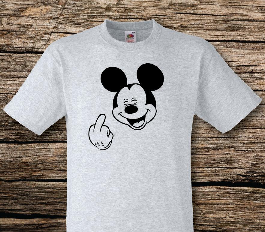 Mickey Mouse Mittelfinger T Shirt unhöflich Geschenk   Etsy