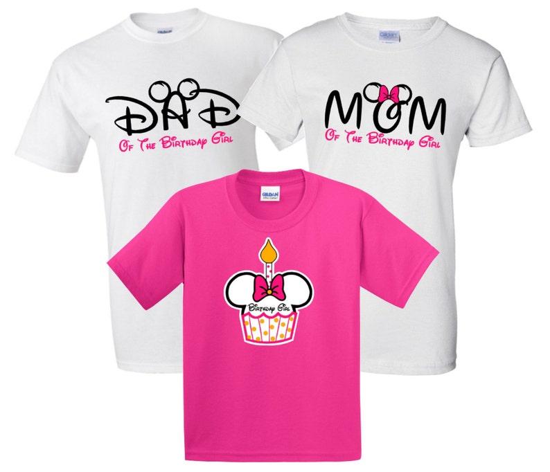 8cbf9038dc83 Disney Mickey and Minnie Mom and Dad of Birthday Girl Family | Etsy