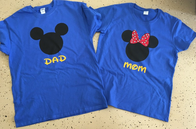 0568b5140073a0 Disney Mickey and Minnie Mouse Family Vacation T-Shirt Flowy | Etsy
