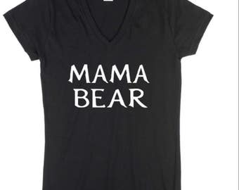 Mama Bear Shirt, Mama Bear, New Mom Cunstom T Shirt